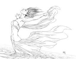 Michael Turner's Fathom Splash Pinup by LegendaryRoz