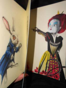 Alice in Wonderland on Moleskine