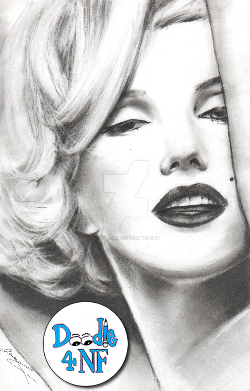 Marilyn Monroe by RoxaneLys