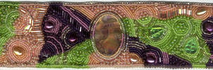 Bead Embroidery Cuff - Sept 08 by beadg1rl