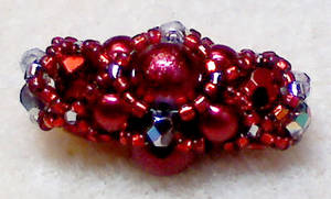 Crimson Beaded Bead by beadg1rl