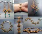 Coronet Bracelet Set Collage