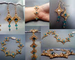 Coronet Bracelet Set Collage