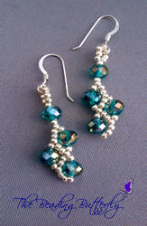 Double Net Earrings by beadg1rl