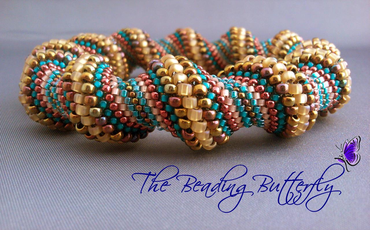 Harvest Cellini Spiral Bangle by beadg1rl