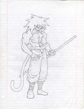SSJ 4 Goku Scetch