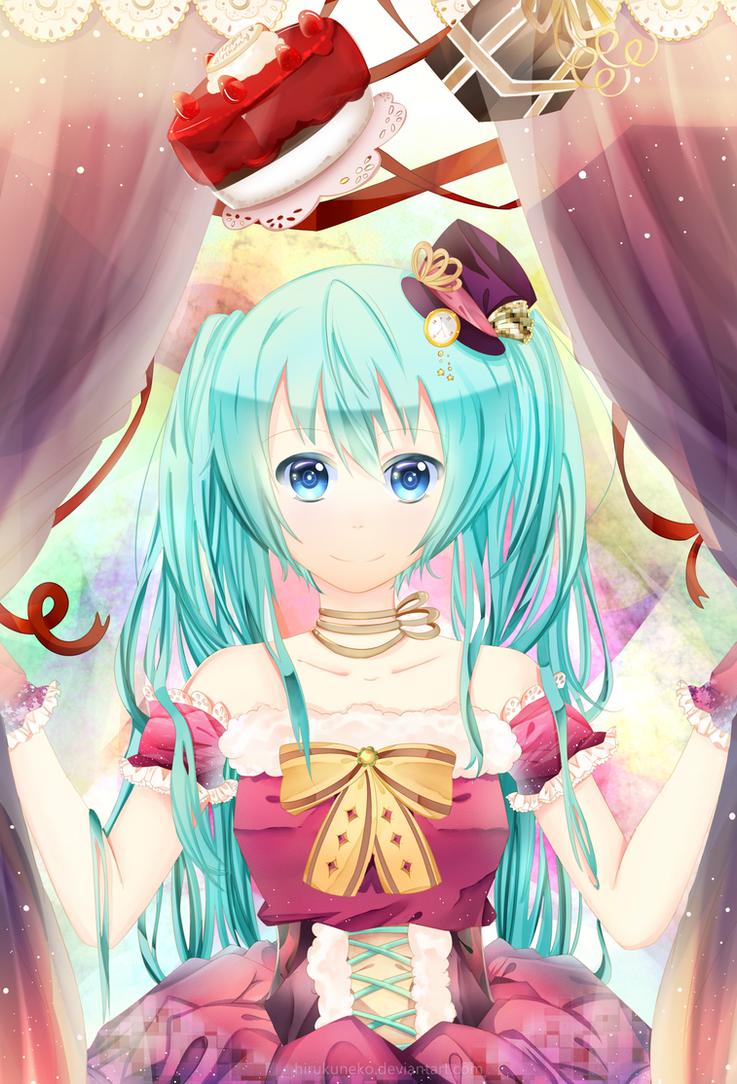 Cake + Gift by Hirukuneko