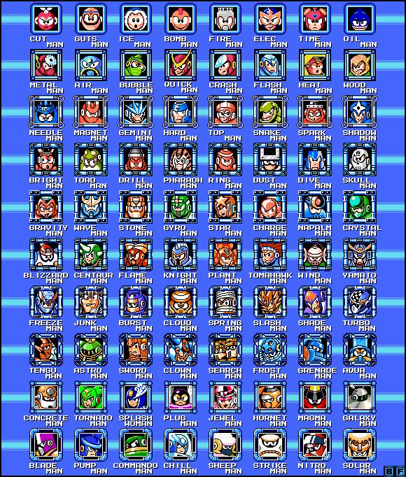 Mega Man 1 - 10 Robot Masters