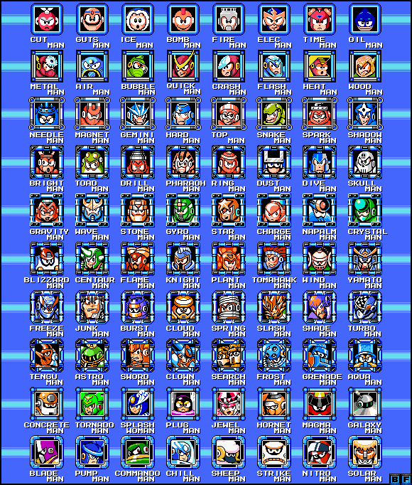 Mega Man 1 - 10 Robot Masters by BlueFirez88