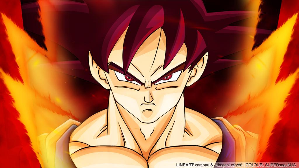 Super Saiyan God Goku Wallpaper by SUPERsaeJANG on DeviantArt