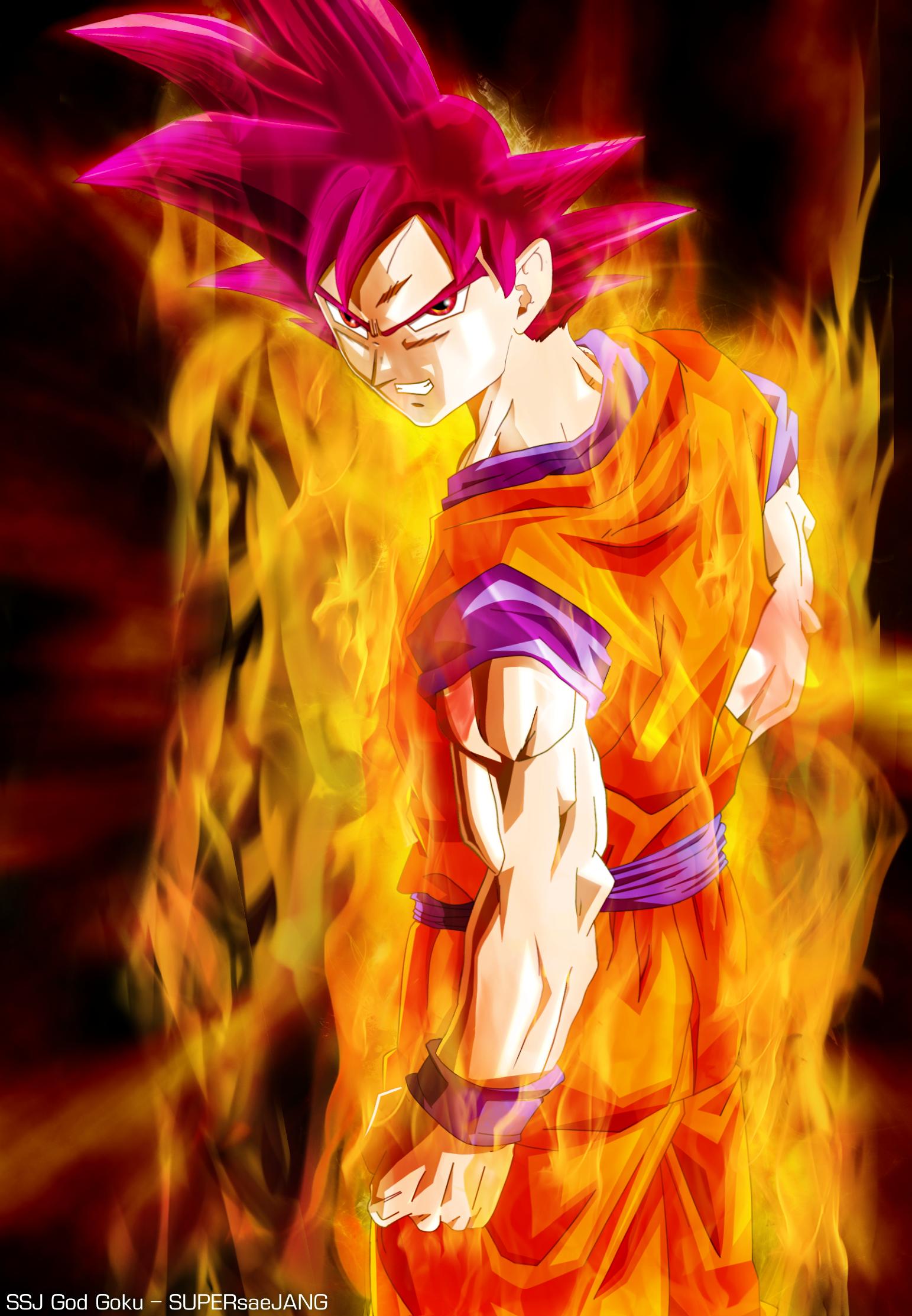 God Goku By Supersaejang On Deviantart