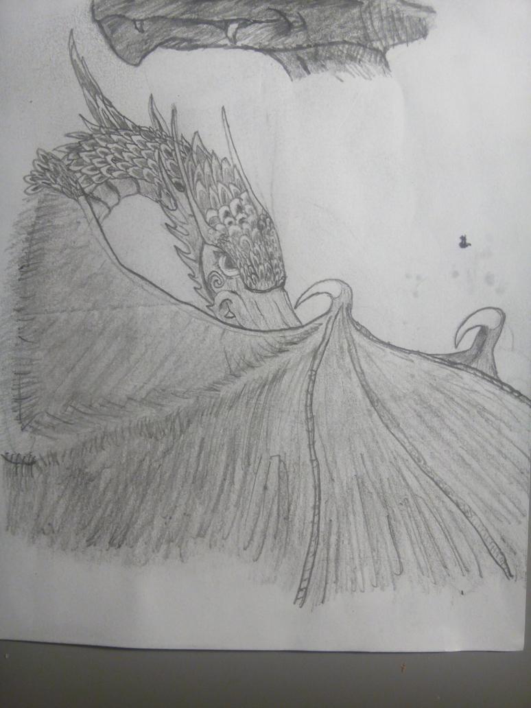 Shy dragon by Askilone