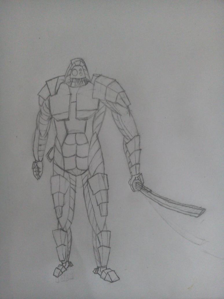 Robot warrior by Askilone