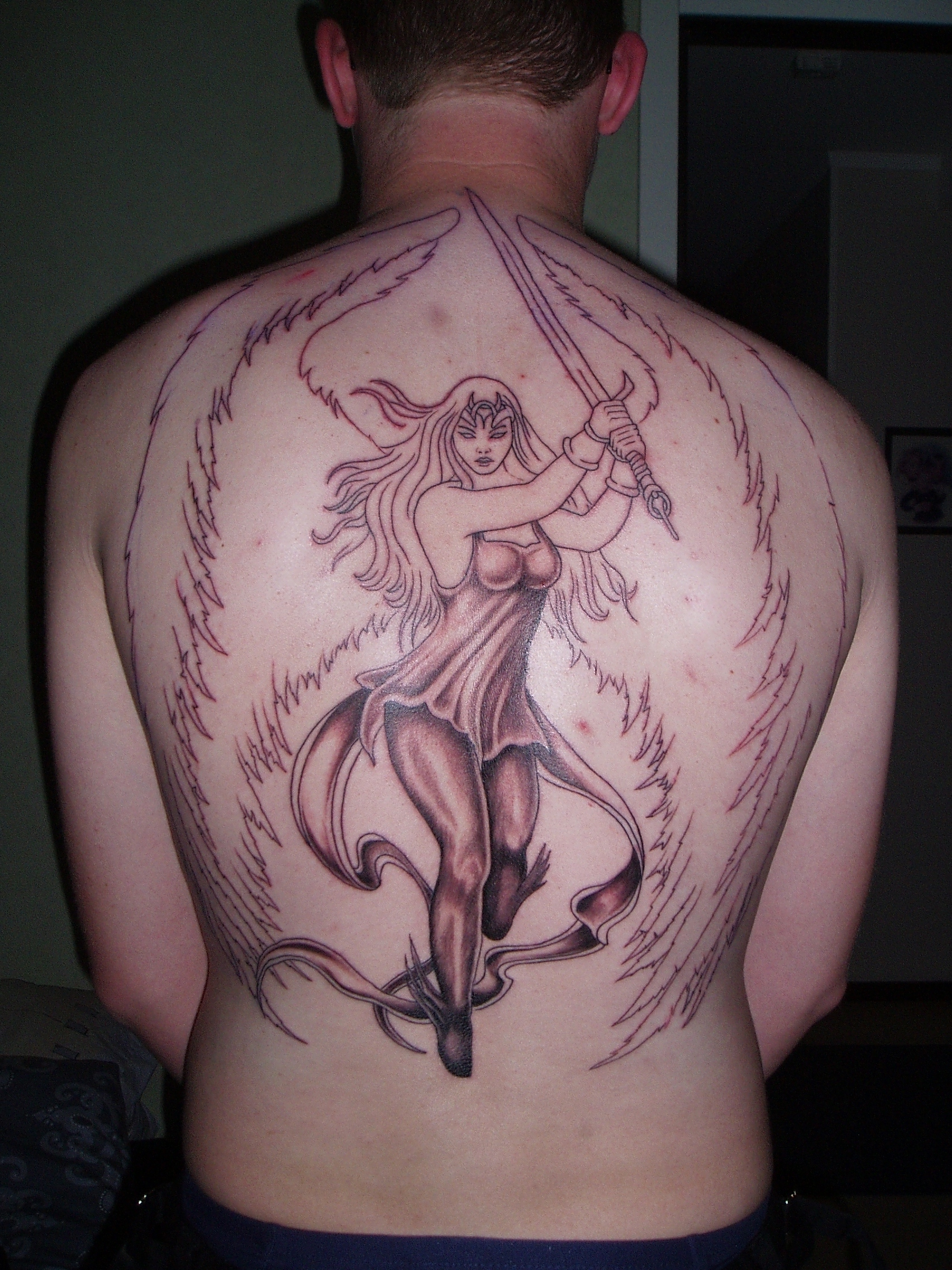 Guardian angel tattoo by molrid