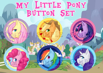 My Little Pony Button Set by WildFireStrife