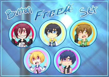 Free! Iwatobi Swim Club Button Set by WildFireStrife
