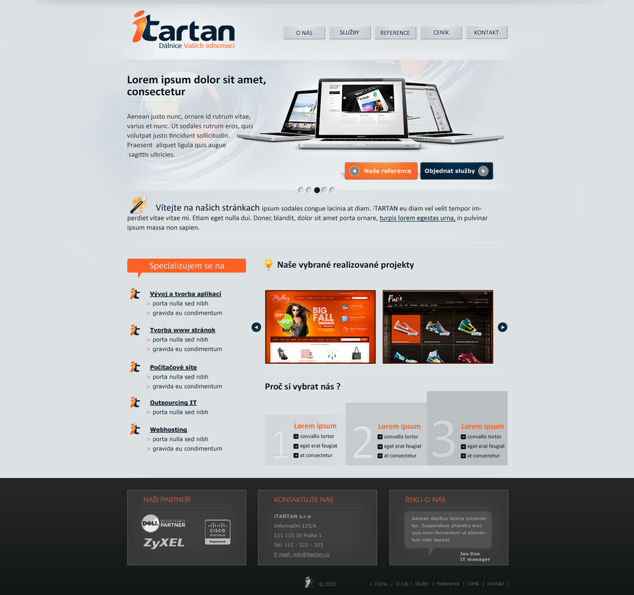 itartan by pa3ick d31e863 Web Interface Showcase of Inspiration