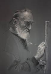 El Maestro en su estudio