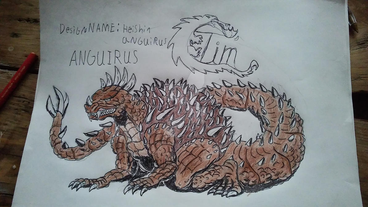 Heishin anguirus by timothyallman