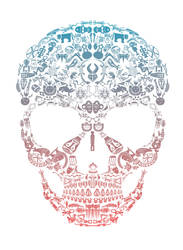 African Vector skull by AndonnastY