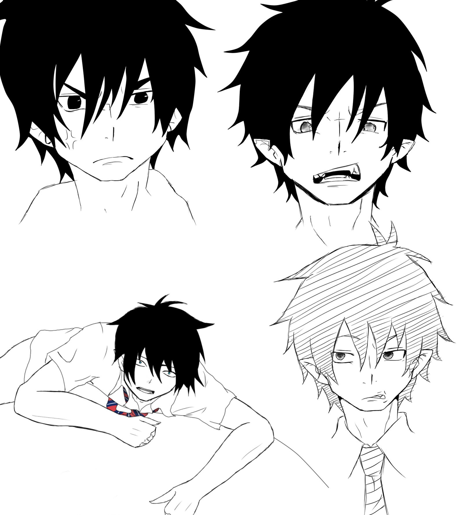 how to draw rin okumura