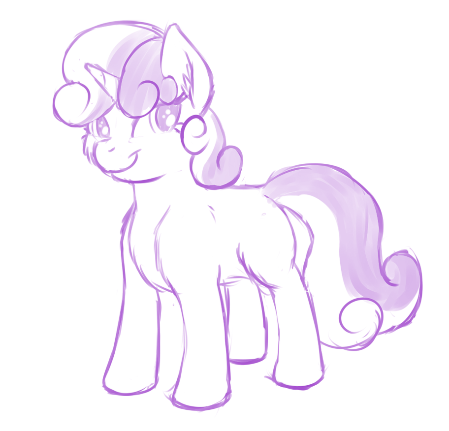 First practice in foals (Sketch) by ReyRayder