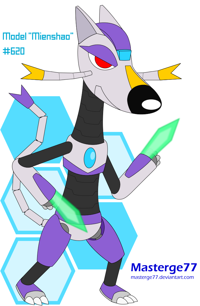 Mienshao Model Pokeroid By Masterge77 On Deviantart