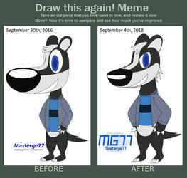 Before and After Meme: Josh the Badger by Masterge77