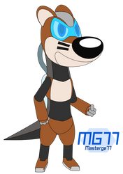 Gift Art: Jacob the Robot Otter by Masterge77