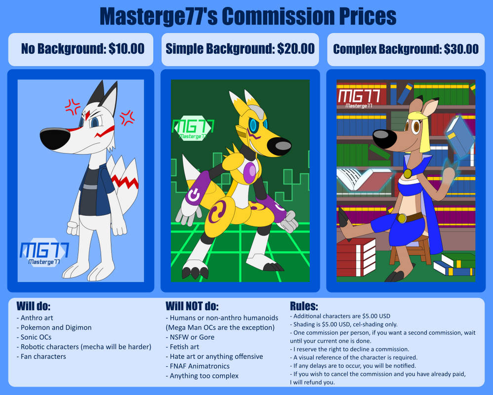 Masterge77's Commission Prices - 2020 (OPEN)