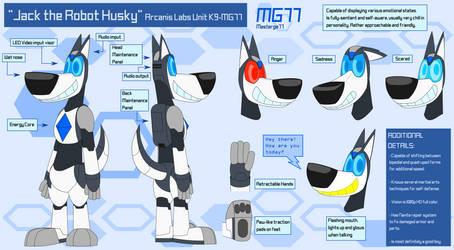 Jack the Robot Husky - Reference Sheet