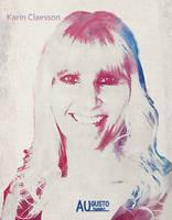 Karin Claesson - Watercolor by AugustoDigitalArt