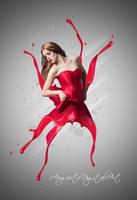 Valentine Splash by AugustoDigitalArt