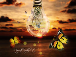 Butterflies At Sunset by AugustoDigitalArt