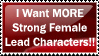 Strong Female Lead Characters by yotaka