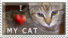 I Love My Cat :: Stamp by NuciComs