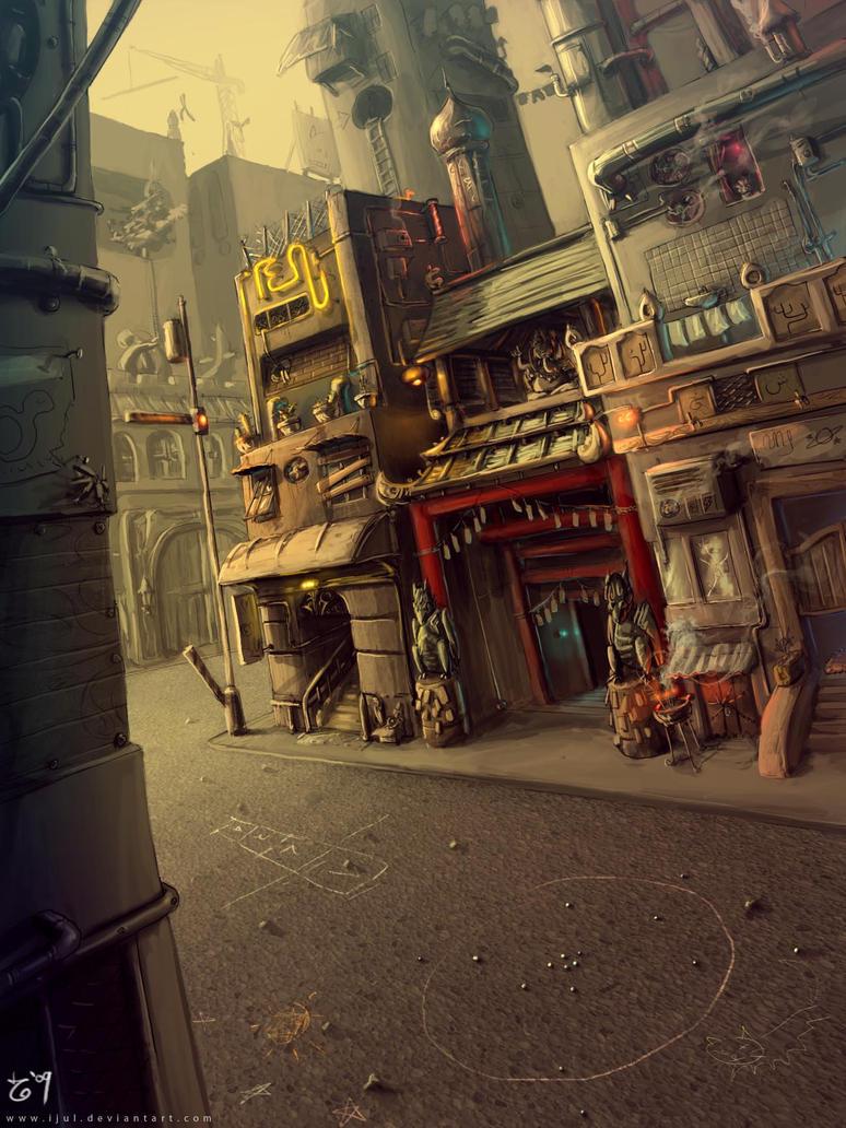 street corner by ijul