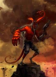 old hellboy by ijul