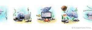 SEO sharks by i-love-icons