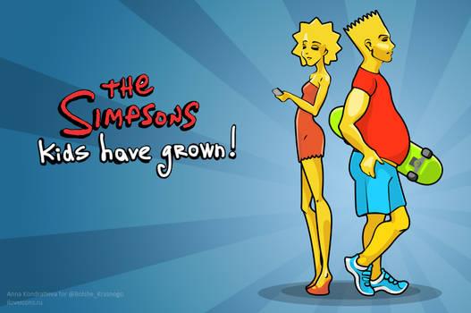 Bart and Lisa Simpsons