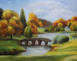 Landscape with a bridge by ElizabethHolmes