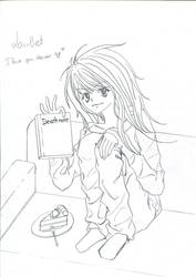 Fanart: Death note: Lawliet - girl version by Berrya