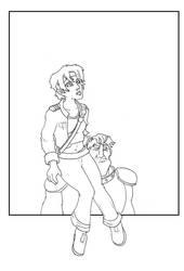 Miss Thyris and Hub - Sketch by chronentity