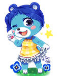 Animal Crossing: Bluebear with ponytail!