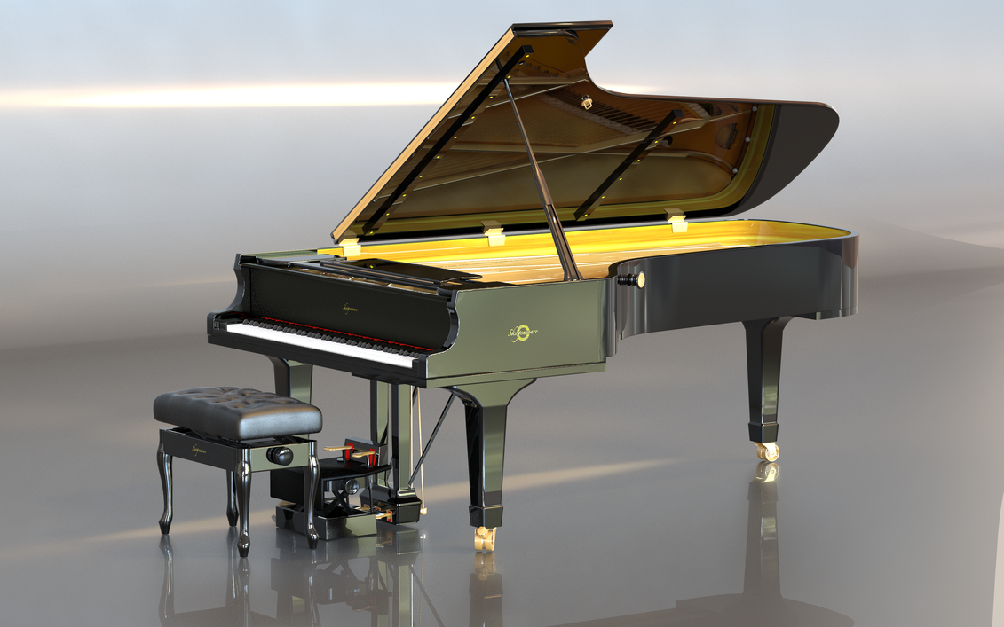 Grand Piano by afsan-deviant