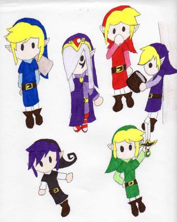 four sword chibi by NintendoSegaGirl