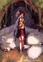 Princess Mononoke by Lillkun