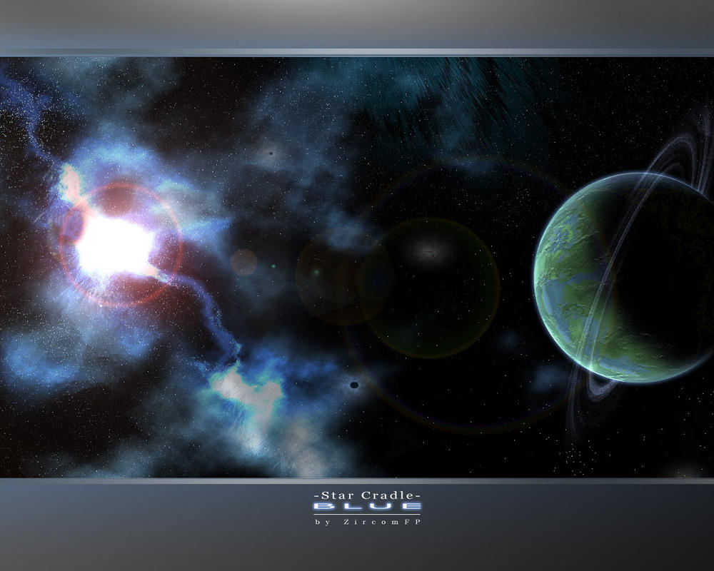 Star Cradle BLUE by Zircomfp