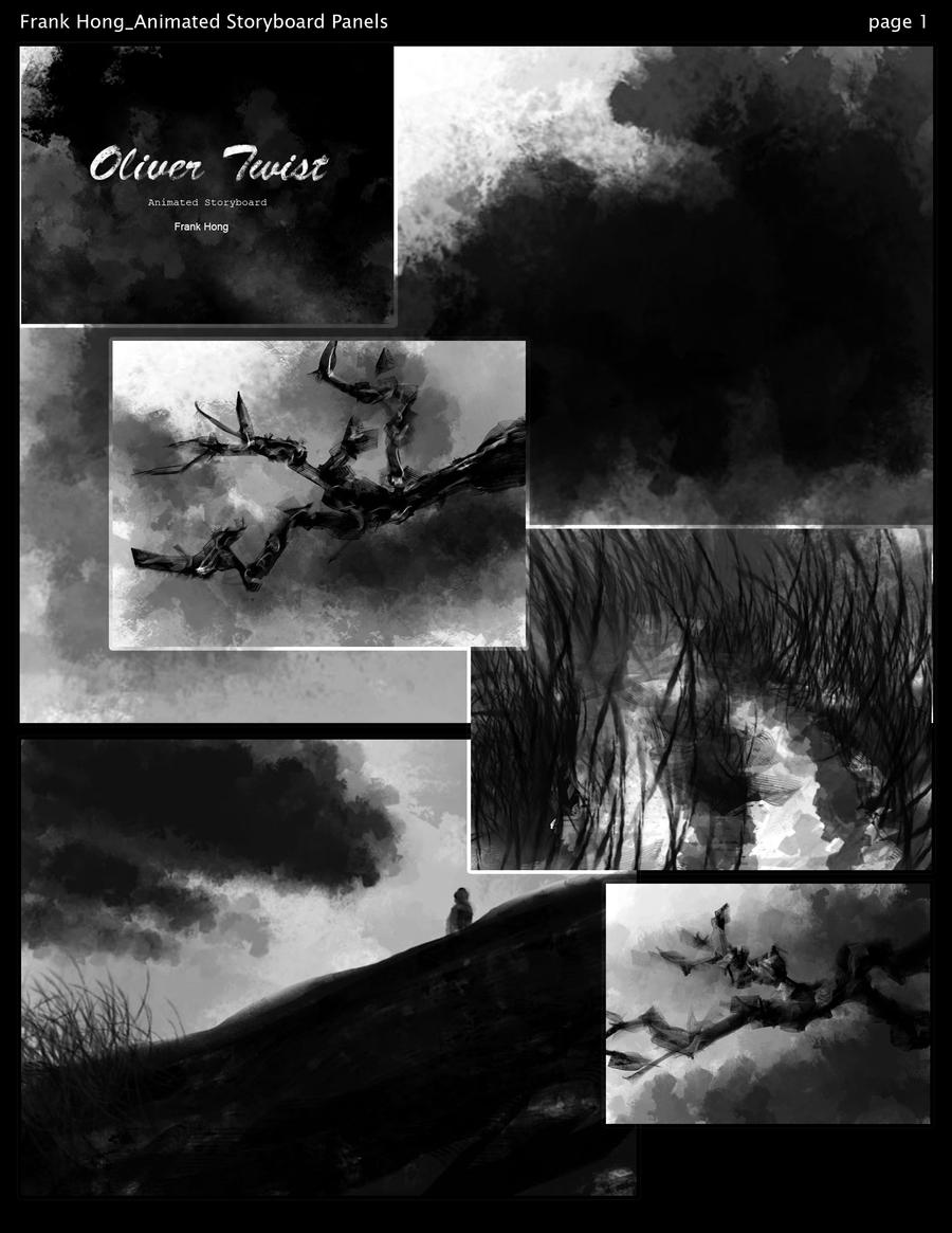 Oliver Twist Storyboard page1 by frankhong