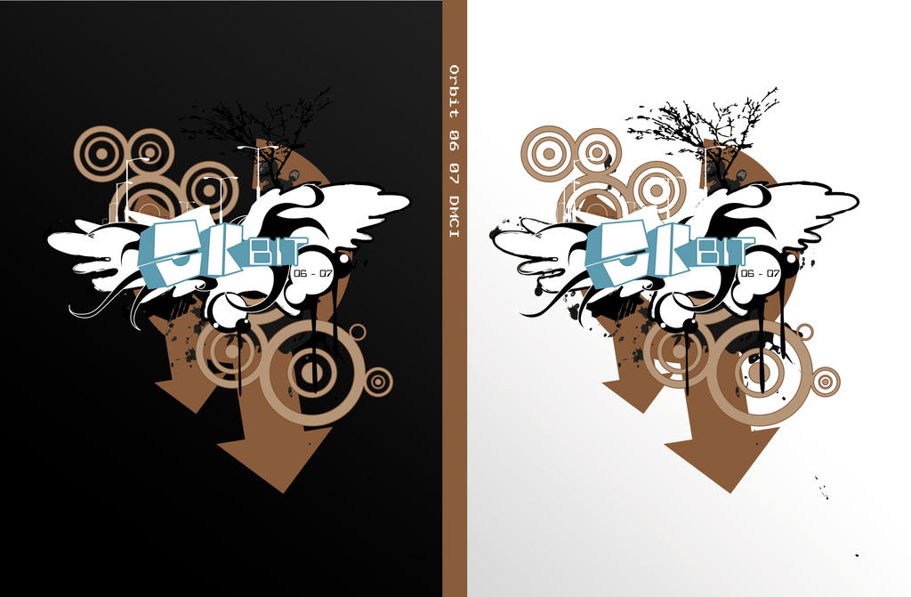 ORBIT yearbook cover design by frankhong